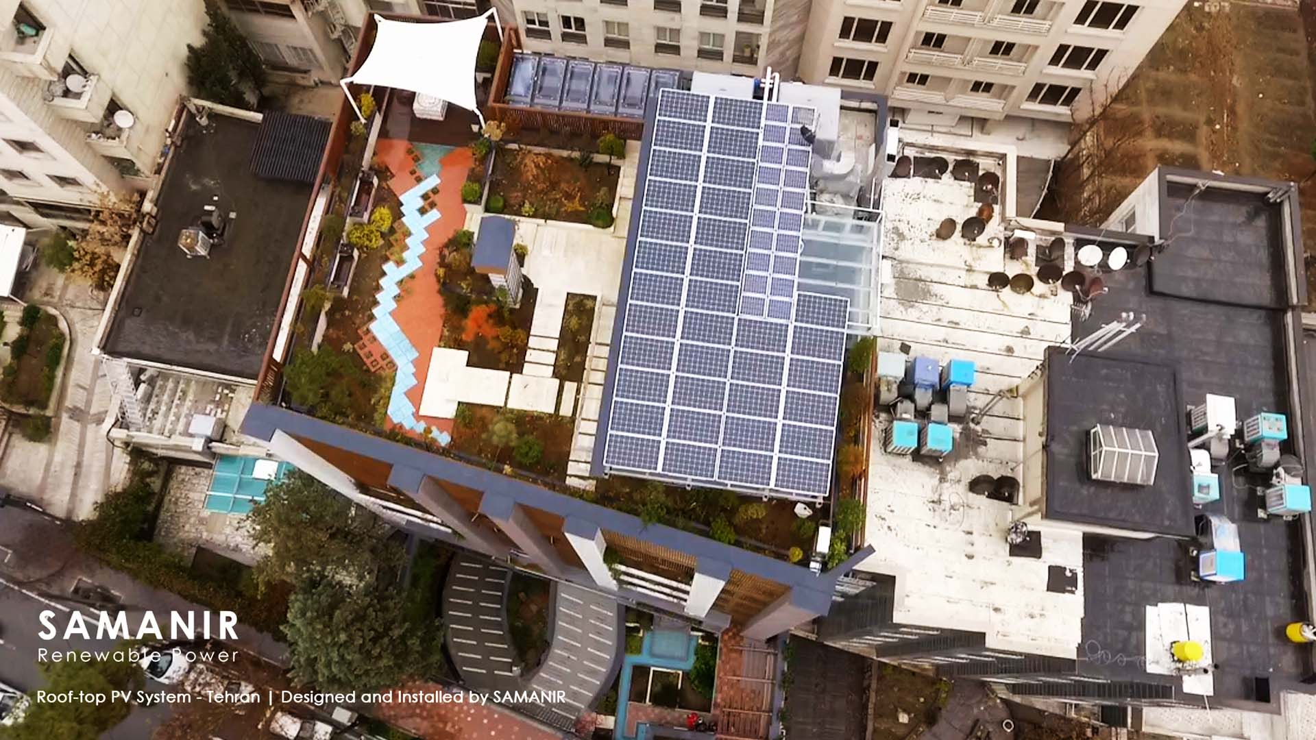 SAMANIR SOLAR ROOF-TOP PV SYSTEM نیروگاه خورشیدی ساختمانی سمانیر
