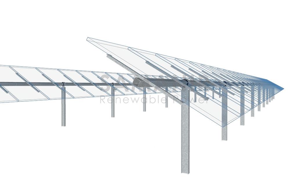 ساختار ردیاب خورشیدی تک محوره سمانیر